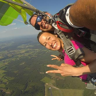 Tandem Jump adrenaline relaxation